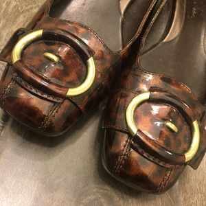 Cole Haan Tortoise Shell Patent Leather Ballet